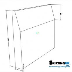 Chamfer Skirting Board Sketch with Dimensions