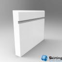 Mini Bullnose Grooved Skirting Board