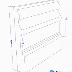 tulip ii skirting board dimensions