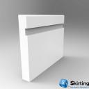 Mini Bullnose Wide Groove Skirting Board