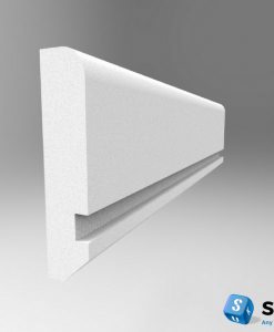 Edge 10mm Wide Groove Dado Rail Primed