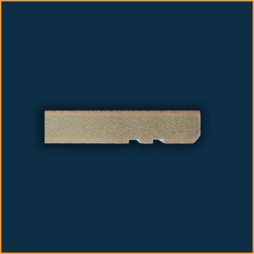 Edge 5mm Grooved 2 Skirting Board Side Profile