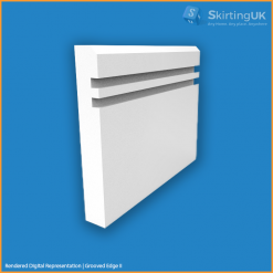 Edge 5mm Grooved II Skirting Board