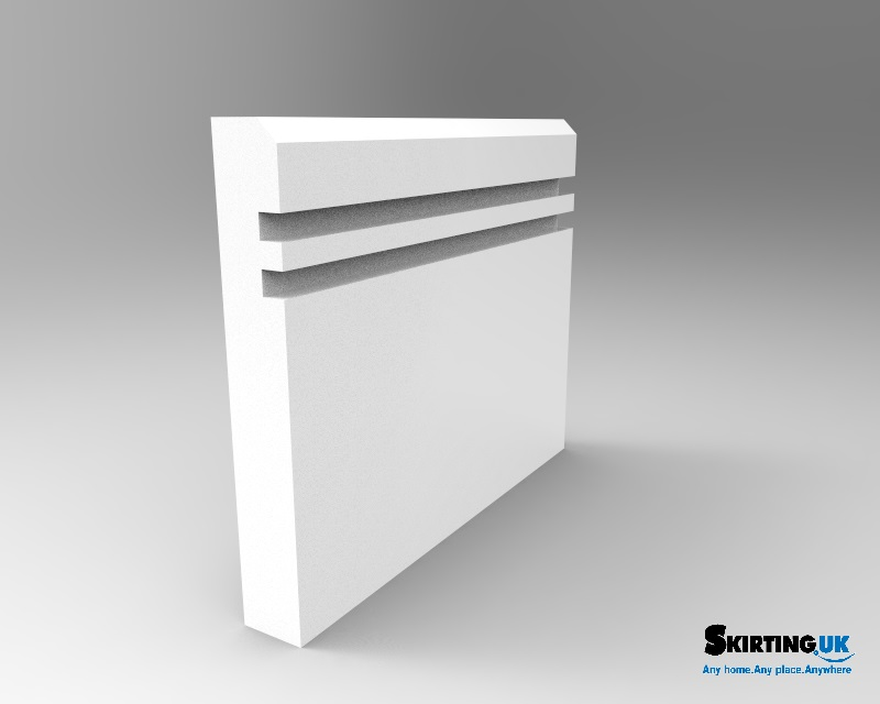 Grooved Edge II Skirting Board