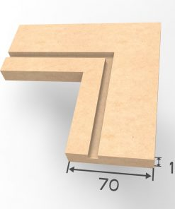 Grooved Square I Architrave Unprimed