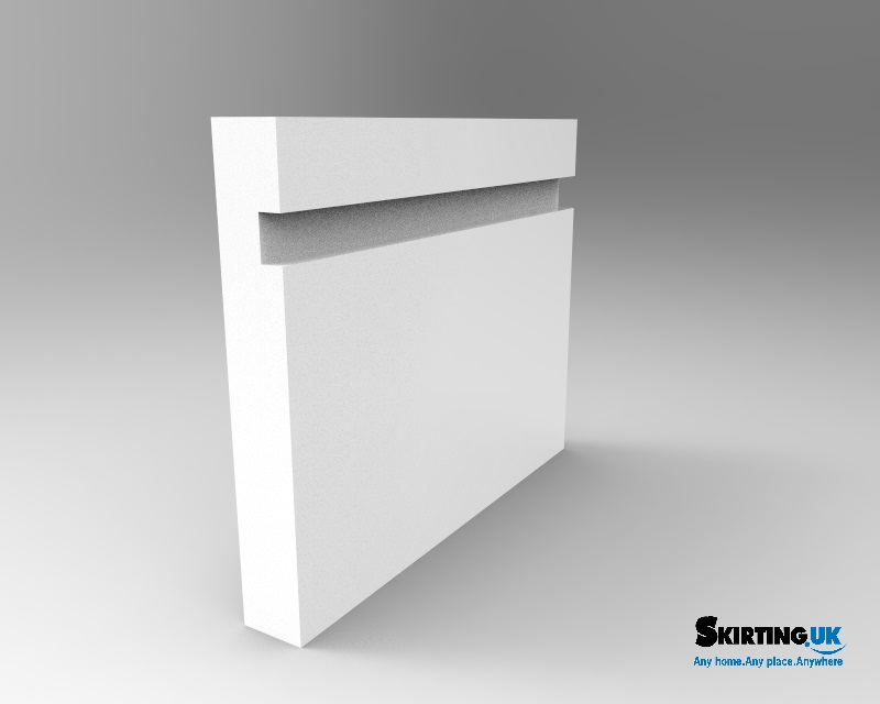 Grooved Square Wide Groove Skirting Board