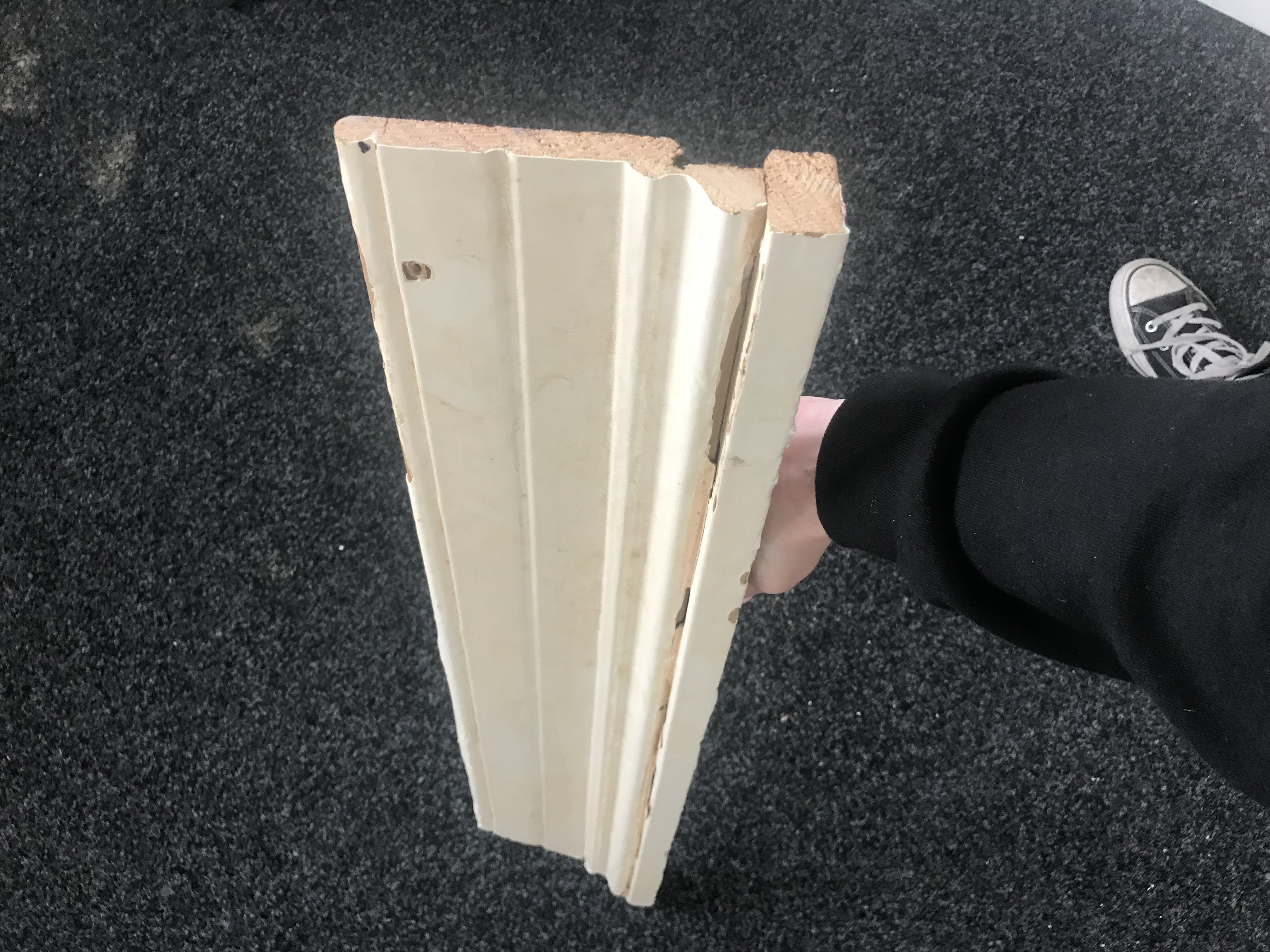 Customers existing architrave sample - front view