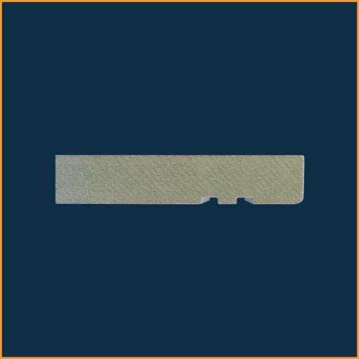 Mini Bullnose Grooved 2 Skirting Board Side Profile