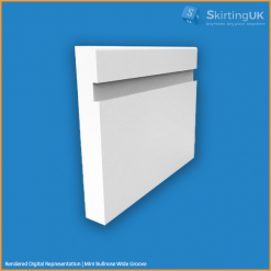 Mini Bullnose Wide Groove Skirting Board