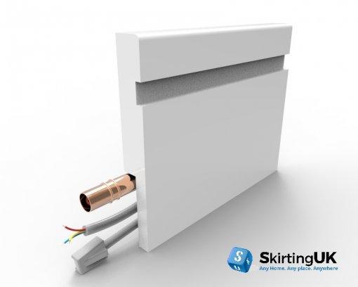 Mini Bullnose Wide Groove Skirting Board with Rebate