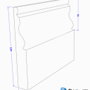 Ogee II Skirting Board Dimensions