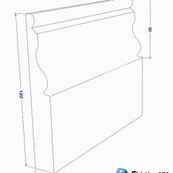 Ogee II Skirting Board Dimensions