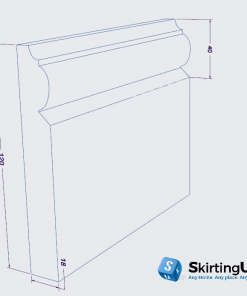 Profile I Skirting Board Dimensions