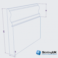Profile II Skirting Board Dimensions