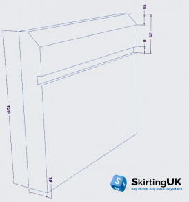 Edge 10mm Grooved I Skirting Board Dimensions