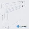 Edge 10mm Grooved II Skirting Board Dimensions