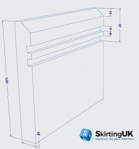 Edge 10mm Grooved II Skirting Board Dimensions