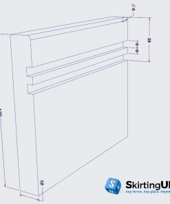 Mini Bullnose Grooved ll Skirting Board Dimensions