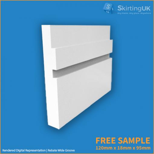 rebate wide groove skirting sample