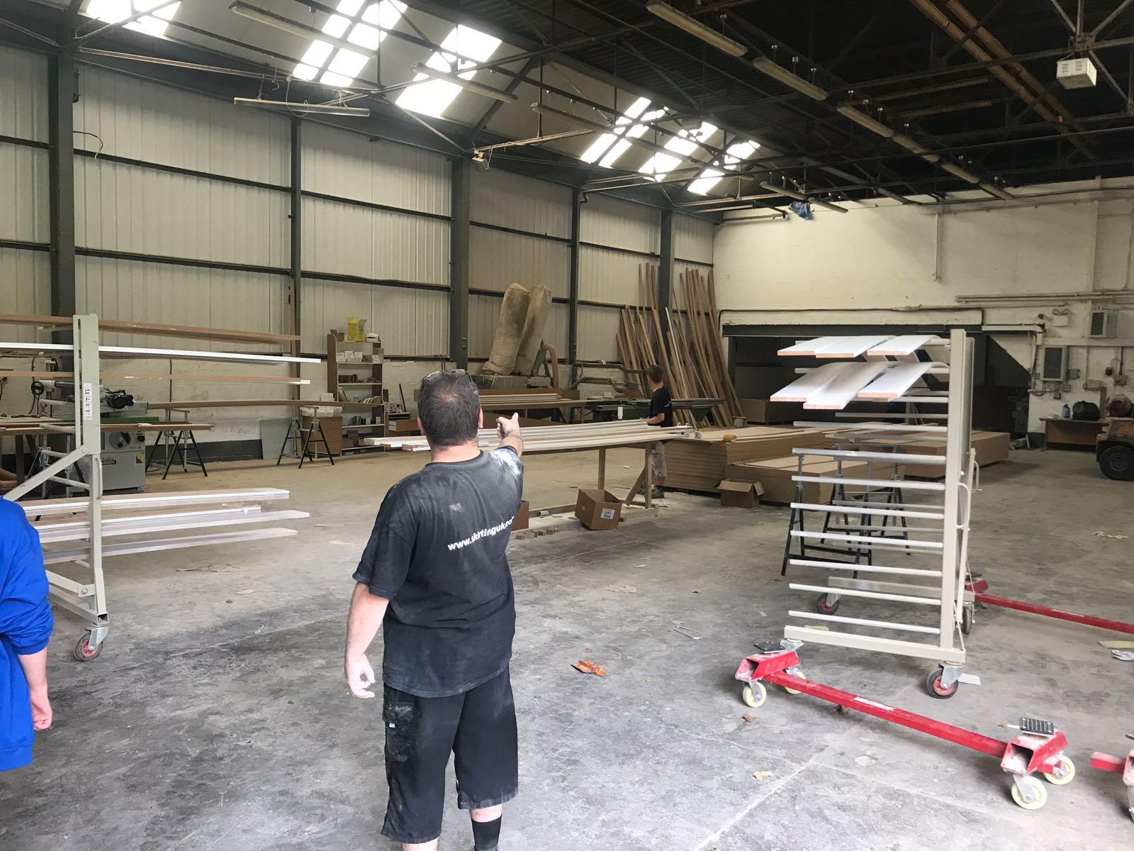 Skirting UK Team member Roy in the warehouse